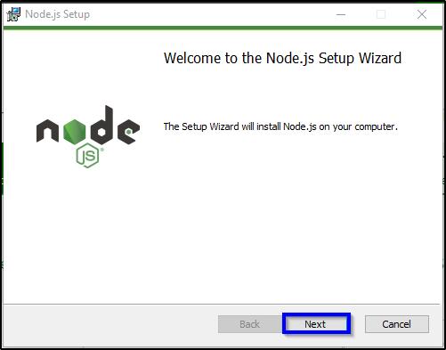 node js setup wizard
