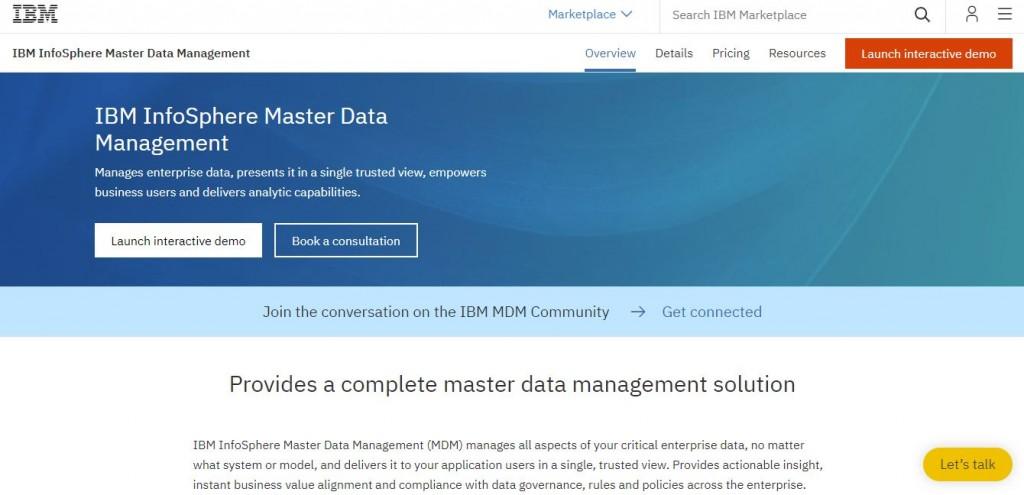 InfoSphere IBM MDM
